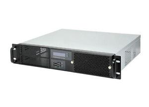 """19"""" Server Gehäuse 2HE / 2U - IPC-G238 - mit Lüftersteuerung - nur 38cm kurz"""