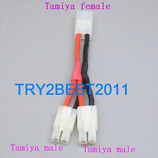 Tamiya Y Wire Harness Plug Parallel Battery Pack Connector Adapter Cable NiMH