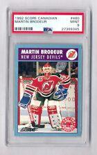 MARTIN BRODEUR 1992 SCORE CANADIAN ROOKIE RC CARD DEVILS PSA 9 MINT