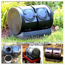 Compost Tumbler Barrel Organic Garden Composter Yard Waste Outdoor Recycle Bin