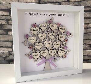 Personalised Family Tree Handmade Christmas Grandparents Birthday Framed Gift
