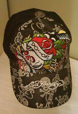 Ed Hardy Hat Do or Die Black Cap Adjustable Snapback Mesh Trucker Logo