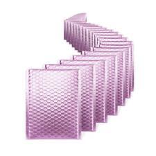 100 000 Matte Metallic Purple Poly Bubble Mailers 4x8 Inner 4x7