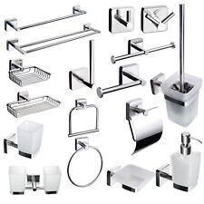 Badaccessoires Set Quadratischer Stil Bad WC Garnitur Edelstahl Badzubehör  Wand