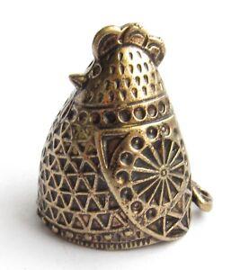Thimble CHICKEN BIRD hen Solid Brass Metal Russian Style Souvenir Collection