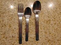 "VINTAGE SPLENDIDE 7 1/2"" STAINLESS STEEL 18/8 FLATWARE SET OF 3 KOREA"