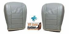 2003 2004 Ford F250 F350 Lariat Driver Passenger Bottom Leather Seat Cover Gray