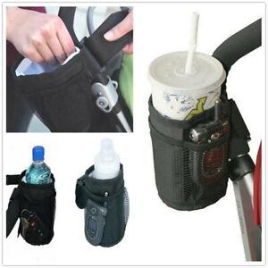 Universal Milk Bottle Cup Holder For Stroller Pram Pushchair Bicycle Buggy Black