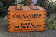 RUSTIC ANTIQUED VINTAGE OLLIVANDERS BOXES CRATES TRUGS WITH LID HANDMADE