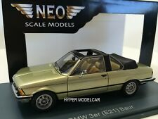 NEO SCALE 1/43 Bmw 323i (E21) Baur Semi-Convertibile Light Green 1979 Art.43285