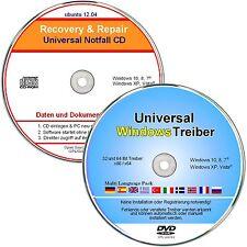 Controlador Windows CD/DVD + CD de emergencia/recuperación de datos/repair * 2 CD Set