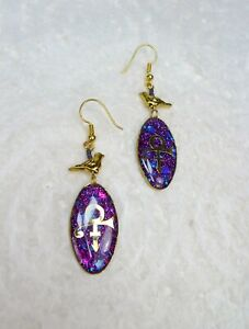 Prince Love Symbol Dangle Earrings - Prince Rogers Nelson Love Sign Jewelry