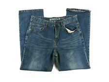 Rustic Blue Mens Boot Cut Jeans, Sz 34 X 30, Medium Wash MJ3