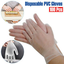 100PC Plastic Disposable Gloves Restaurant Home Service Catering Hygiene US