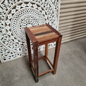 CLEARANCE BARGAIN -reclaimed old wood rustic kitchen bar stool - pickup only (B)
