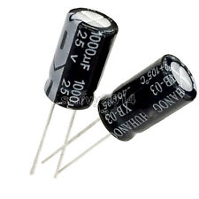 50PCS 1000uF 25V 10mm*20mm Radial Electrolytic Capacitors New
