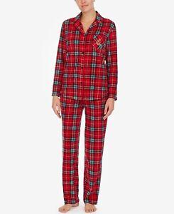 Lauren Ralph Lauren Petite Gift Folded Printed Fleece Pajamas Set - PXS #7212