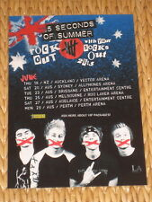 5 SECONDS OF SUMMER - 5SOS - 2015 AUSTRALIAN TOUR -  LAMINATED TOUR POSTER - NEW