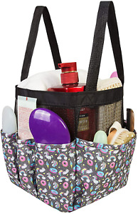 Mesh Shower Caddy Tote, Portable Tote Bag for College Dorm Room Essentials, Toil