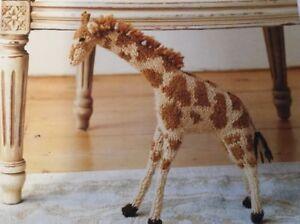 "DK  Knitting Pattern Soft Toy Giraffe  13"" In Height"