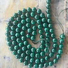 Natural Malachite  8mm Approx 52 pce, 1mm hole  Free postage. Oz Seller