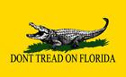 Don't Tread on Florida (D2A) Alligator Vinyl Decal Sticker Fade-Resistant Gator