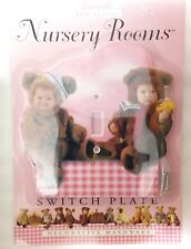 """NEW ANNE GEDDES DECORATIVE HARDWARE NURSERY ROOMS LARGE Pink SWITCHPLATE 7"""" X 7"""""""