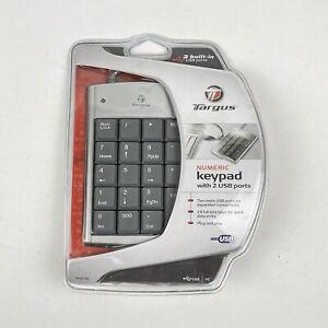 NEW Targus Wired USB 10 Key Number Keyboard/Keypad w/ Extra USB Ports PAUK10U-BB