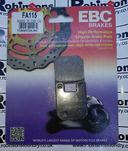 EBC Brake Pads Fits Front or Rear Depending on Application - Various Bike FA115