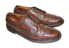 VTG Men's FLORSHEIM Imperial 93602 V Cleat Brown Leather Wingtips Sz 8.5 D