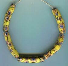 African Trade beads Vintage Venetian glass beads matched small elbow millefiori