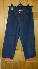 """Women's Kickers Cropped Jeans Size 10 W25"""" L22 Great Condition BX5"""