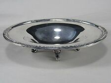 Vintage International Silver Plate,#6048 Footed Bowl-Compote,Raised Rose Edge