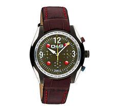 Orologio crono D&G Time cinturino pelle, fondo grigio scuro DW0312