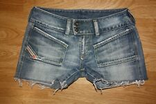 Diesel Jeans Hush Fit Low Rise Distressed Cutoff Short Shorts Size 27