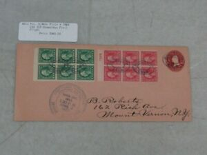 Nystamps US stamp W/F 462a, 463a used on cover booklet panes paid $160