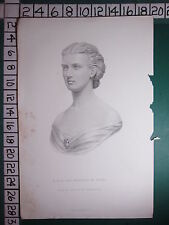 C1830 antico stampa ~ la principessa di Galles ~ Busto da THORNYCROFT