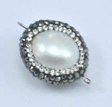 Pearl White Jewellery Making Charms & Pendants