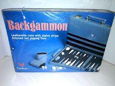 Vintage Cardinal Backgammon Game Set Leatherette Case New