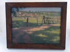 Ölbild Paul Jüde 1943 Weide Sommer Landschaft