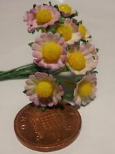 1:12 Scale 20 Daisies Paper Flowers Doll house Miniatures garden  DD6