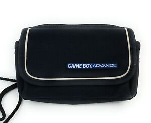 Official Nintendo GameBoy Advance GBA Carrying Case Travel Bag Black and White