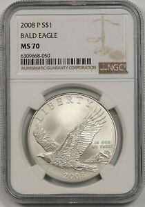 2008-P Bald Eagle $1 NGC MS 70 Modern Commemorative Silver Dollar