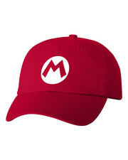 Mario Costume Halloween Smash Bros Unstructured Dad Hat Adjustable Cap-Red