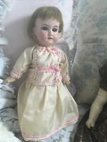 """ANTIQUE ARMAND MARSEILLE DOLL 390 A 4/0 XM CABINET SIZE 12 1/2"""" STUNNING OUTFIT"""
