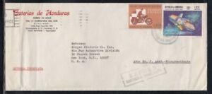 HONDURAS Commercial Cover Tegucigalpa to New York City 24-7-1971 Cancel