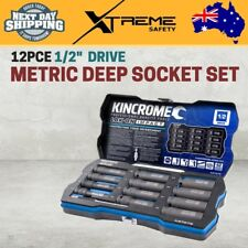 "Kincrome 1/2"" Metric LOK-ON Deep Impact Socket Set 12pce"