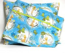 Tinkerbell Toddler Pillow and Pillowcase on Turquoise Cotton #TB16 New Handmade