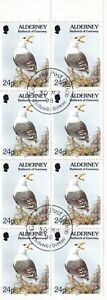 ALDERNEY 1998 BOOKLET PANE - SEAGULL 24p x 8 STAMPS USED FIRST DAY BUREAU