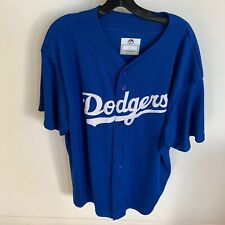 Los Angeles Dodgers MLB Jersey Size 2XL Majestic Short Sleeve Button Up